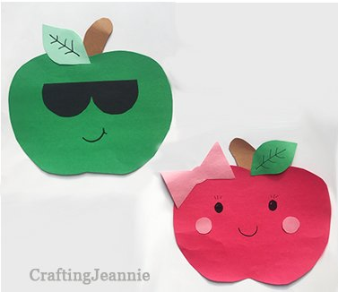 two apples a girl and cool boy fall craft
