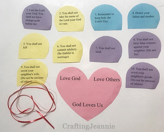 ten commandments ready to put on the heart craft