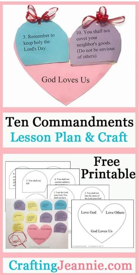ten commandments craft pin