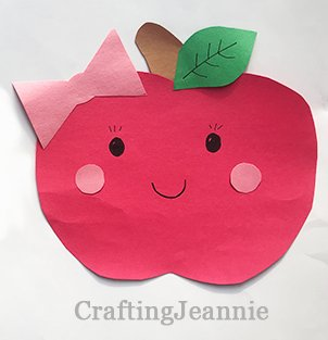 cute apple craft for fall or back to school