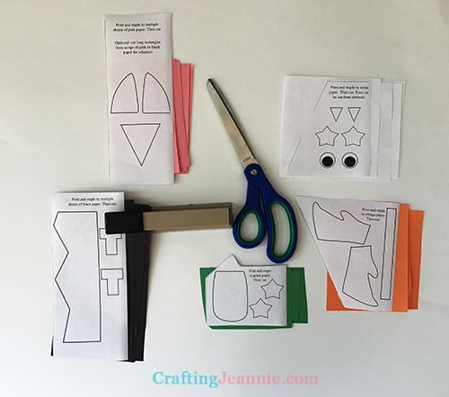 halloween mask printable stapled and ready to cut