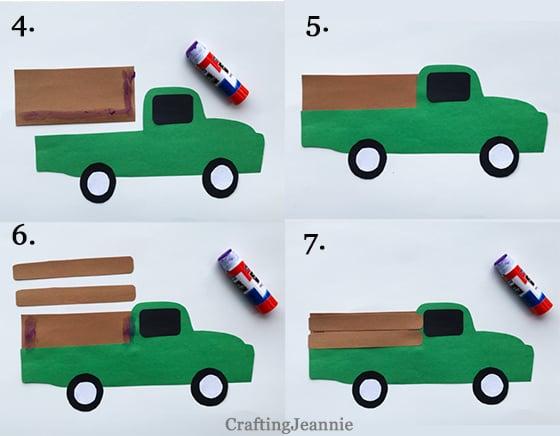 steps to make truck pocket