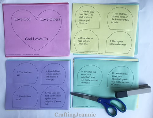 ten commandments staple together then cut