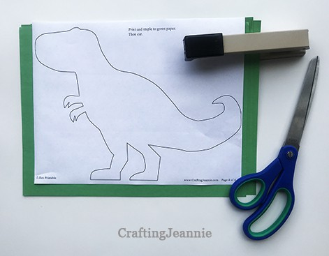 small trex template stapled and ready to cut