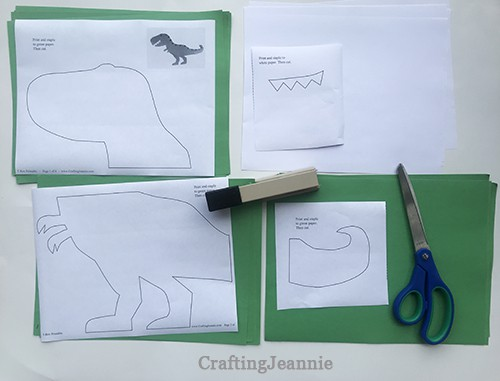 trex template stapled and ready to cut