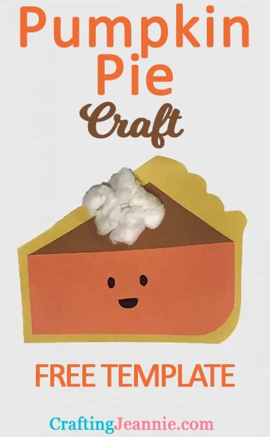 Pumpkin Pie craft for Pinterest