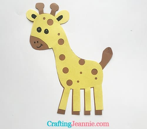 Paper Giraffe from Crafting Jeannie