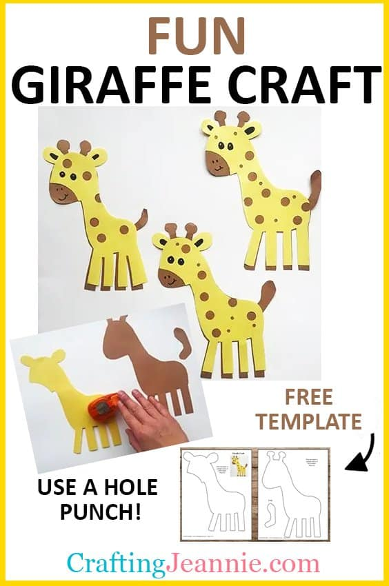 giraffe craft picture for pinterest Crafting Jeannie