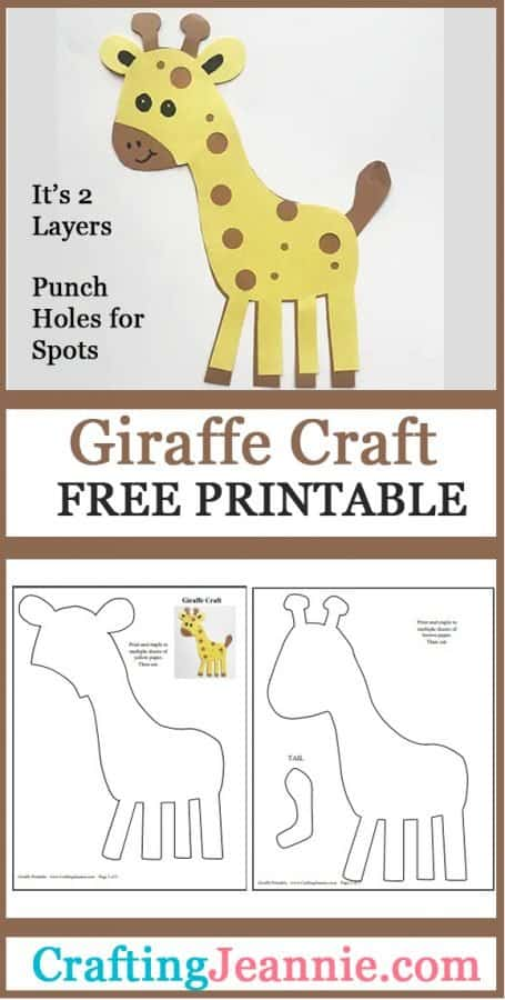 Giraffe craft for pinterest