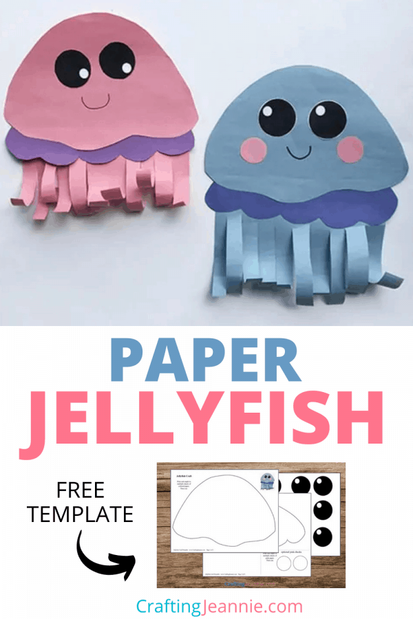 Jelly Fish craft by Crafting Jeannie