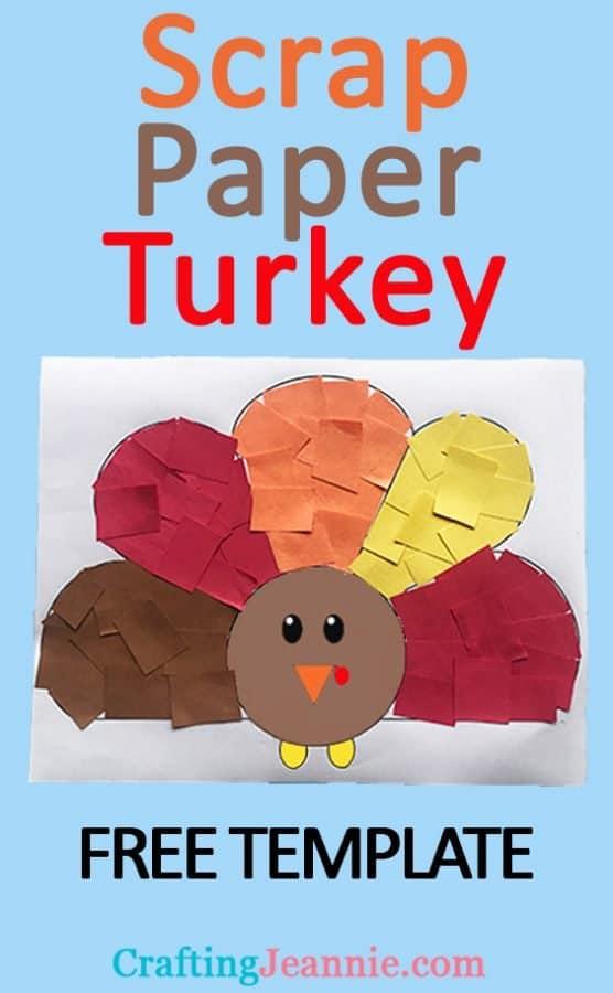 Paper Turkey craft for Pinterest