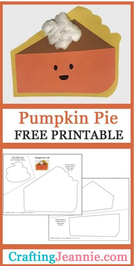 pumpkin pie craft pin