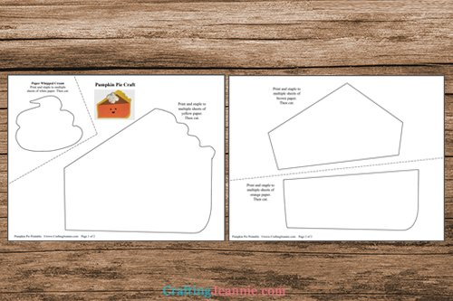 pages of pumpkin pie printable