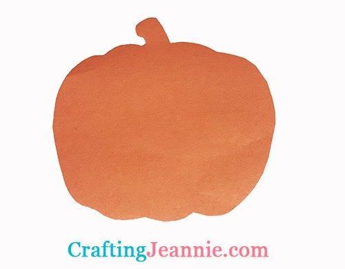 quick paper pumpkin craft