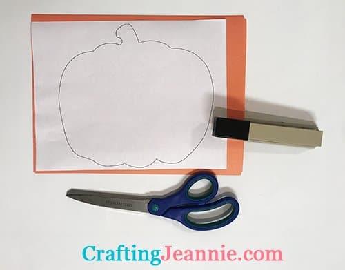 quick pumpkin template ready for cutting