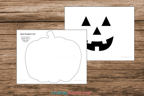 pages of pumpkin craft template