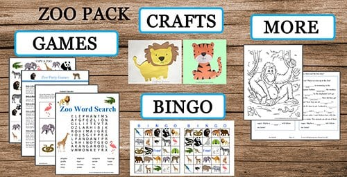 zoo activity pack