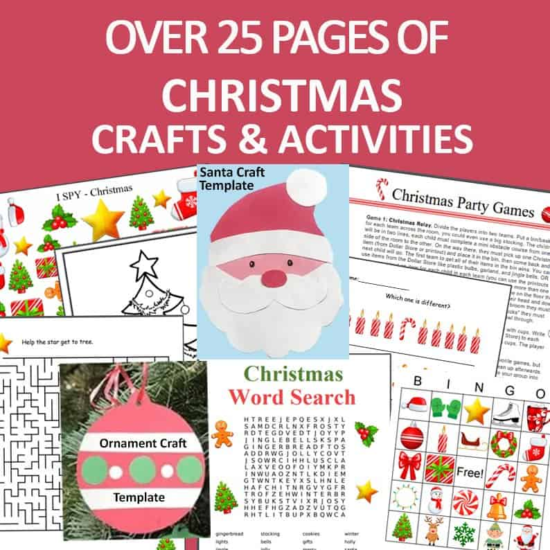 over 25 pages of Christmas activities