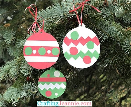 Easy Paper Ornament Craft for Kids