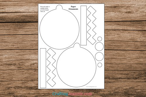 pages of easy ornament printable