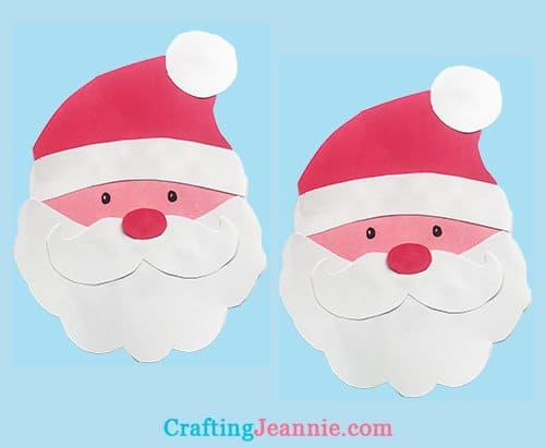 Santa Craft template by Crafting Jeannie