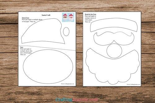 pages of Santa Craft printable