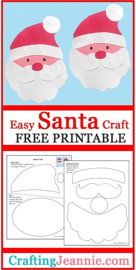 Santa face craft advertisement for pinterest