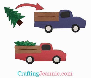 holiday Christmas tree trucks