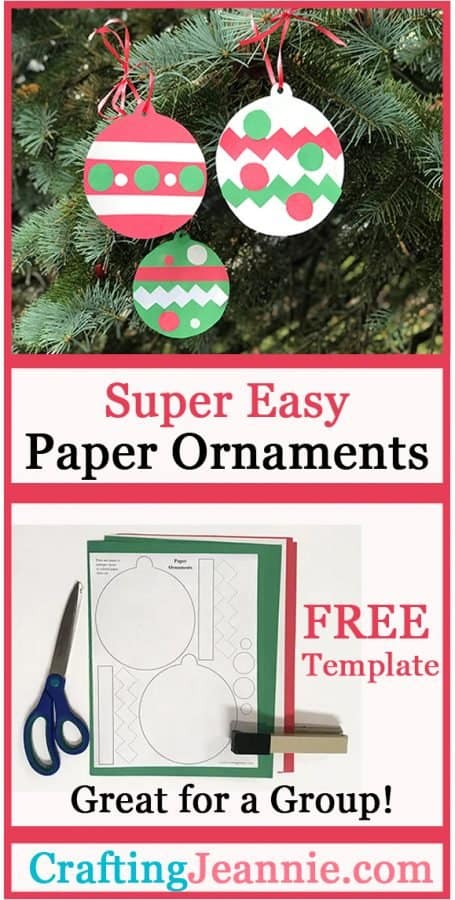 Paper ornament craft advertisement for pinterest