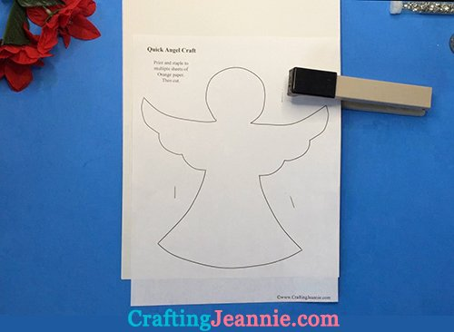 angel template ready to cut