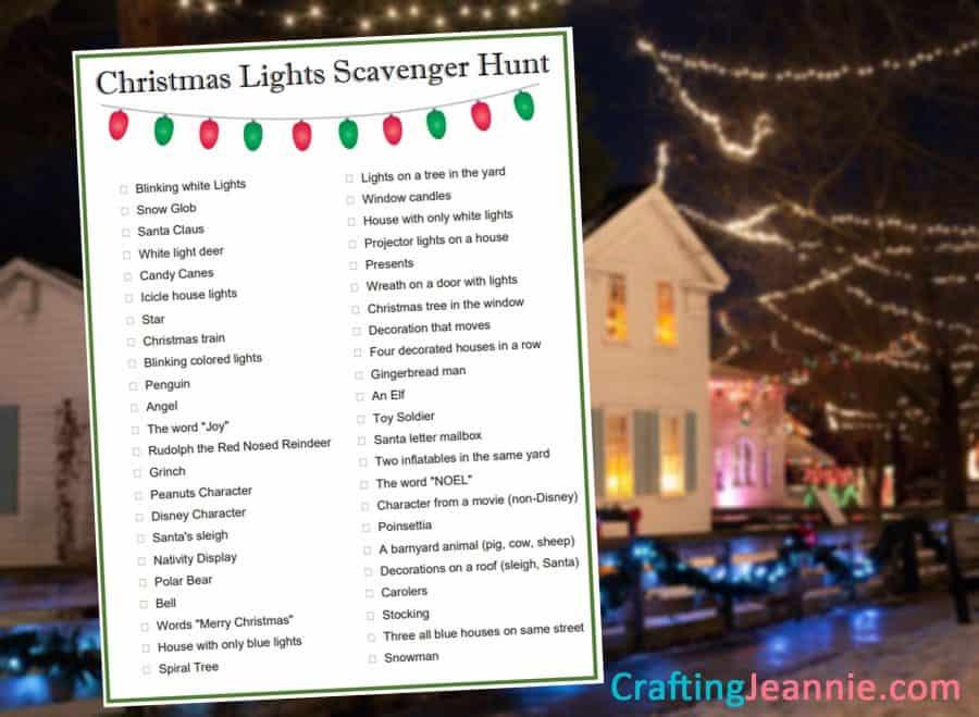 Christmas lights scavenger hunt pdf CraftingJeannie