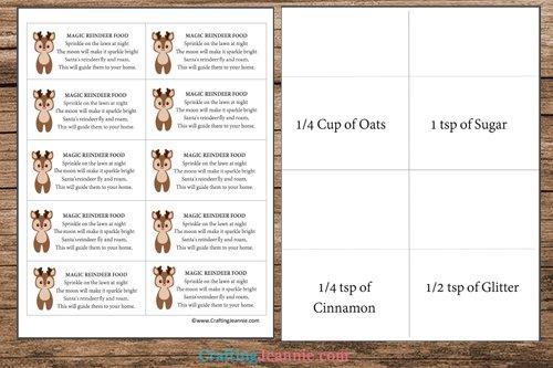Magic Reindeer food pdf template printable pages