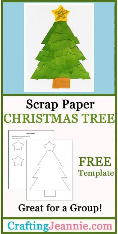Scrap paper tree craft advertisement for pinterest