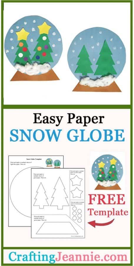 paper snow globe craft advertisement for pinterest