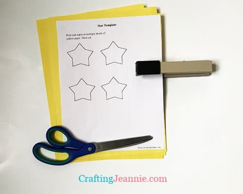 star template for tree craft ready to cut