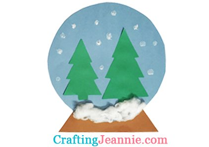 Winter snow globe with trees Crafting Jeannie