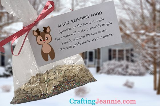 magic reindeer food ready to sprinkle on the lawn