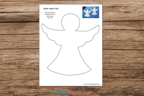 pages of quick Angel Craft printable