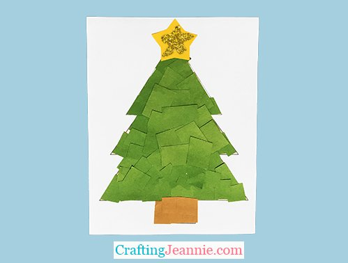 scrap paper Christmas Tree for a group of kids