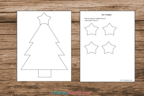 pages of Scrap paper tree Craft printable
