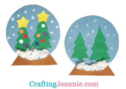 Christmas snow globe or winter snow globe craft for Crafting Jeannie