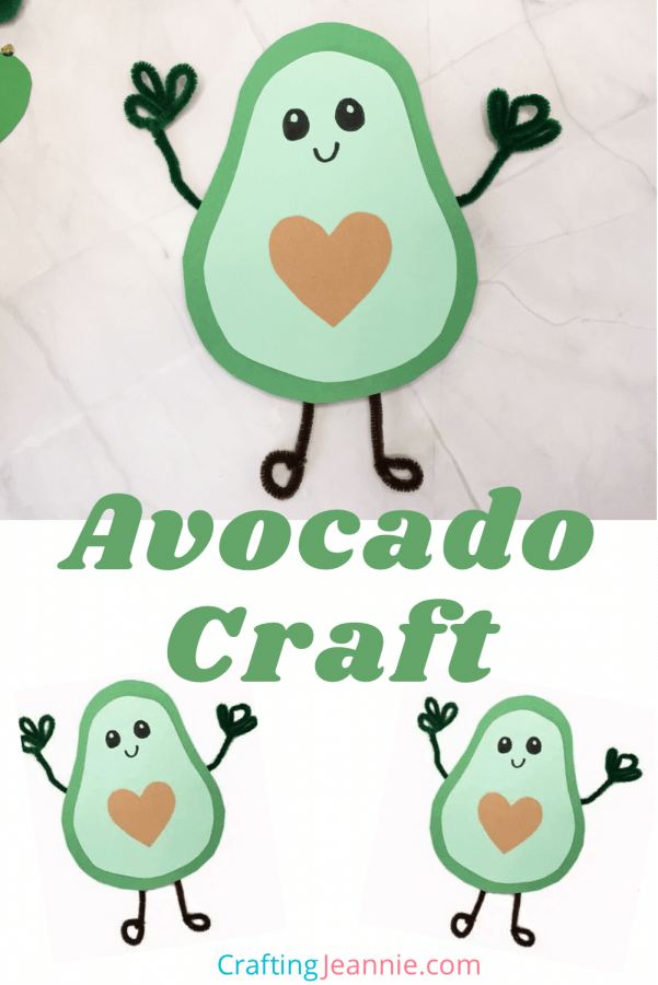 Avocado craft with template for pinterest