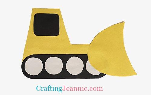 easy paper bulldozer craft