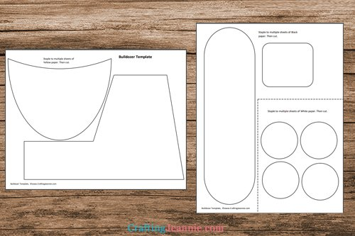 bulldozer craft template printable pages