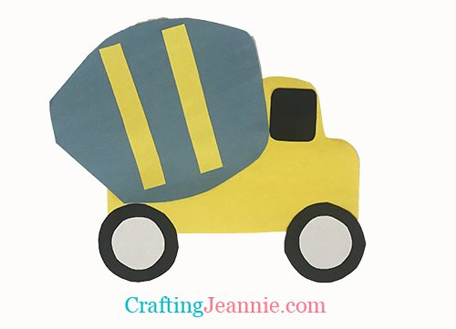 paper cement truck craft for crafting Jeannie