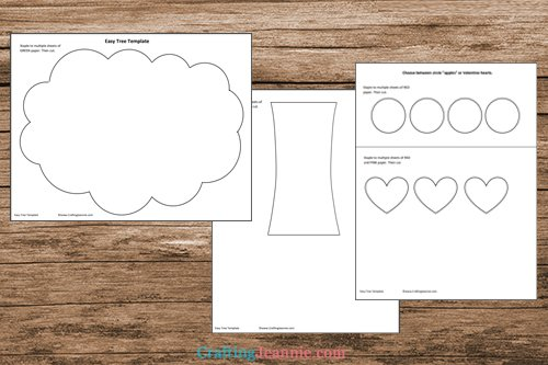 easy tree craft template printable pages