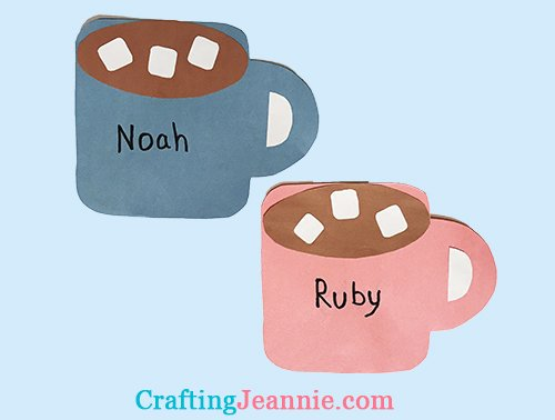 hot chocolate craft Crafting Jeannie