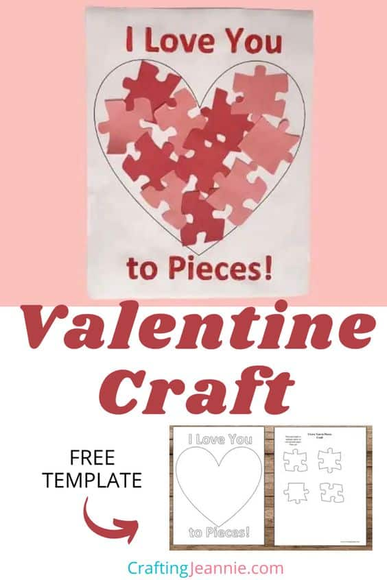 Valentine Craft with template for pinterest