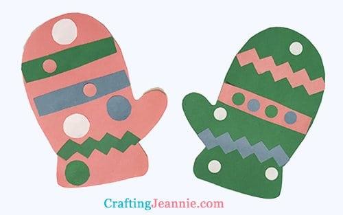mitten craft by Crafting Jeannie