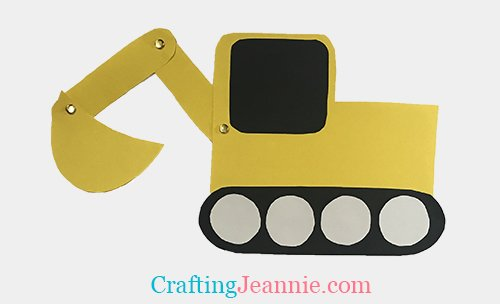 paper excavator craft for crafting Jeannie